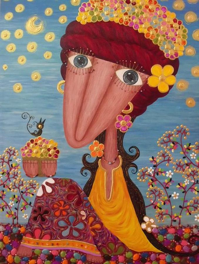 Woman Painting - Woman#1 by Suwannee Wannasopha