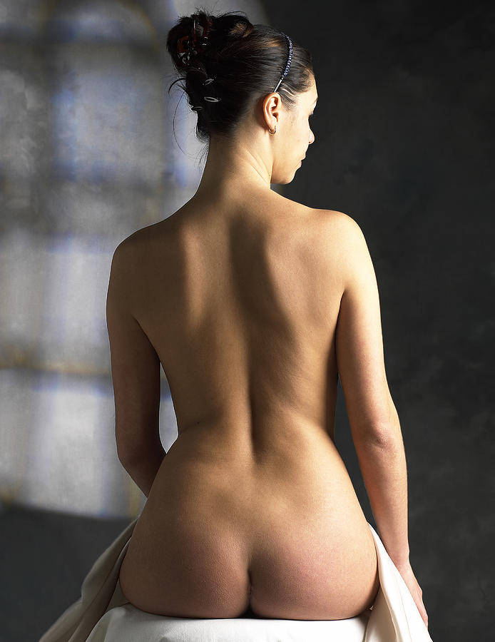 Human Photograph - Womans Back by Tony Mcconnell