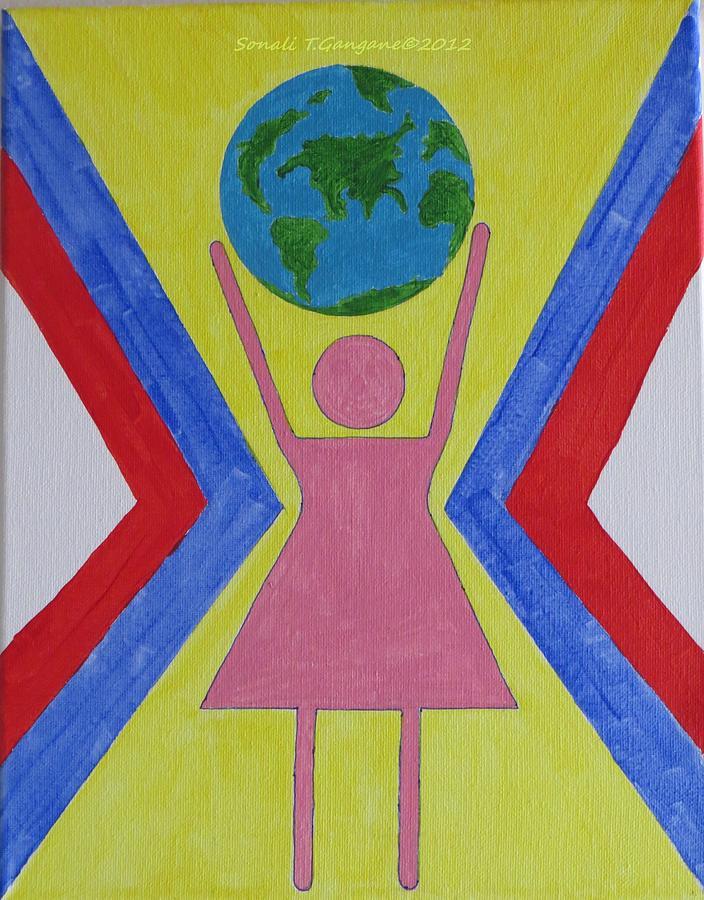 Women Painting - Women Rule The World by Sonali Gangane