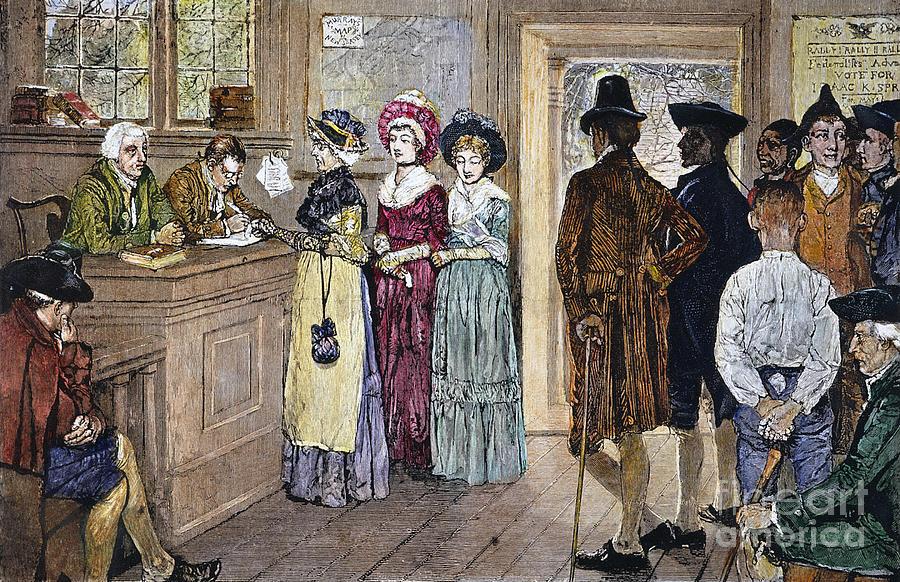 1790s Photograph - Women Voting by Granger