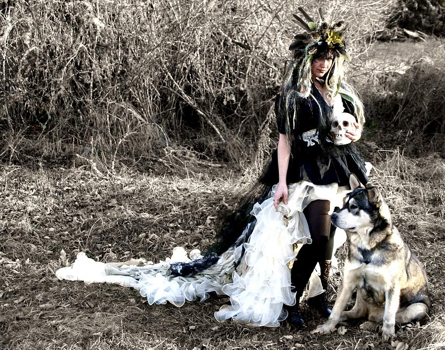 Black Photograph - Women Who Run With Wolves by Nyla Alisia