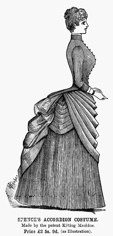 1884 Photograph - Womens Fashion, 1884 by Granger