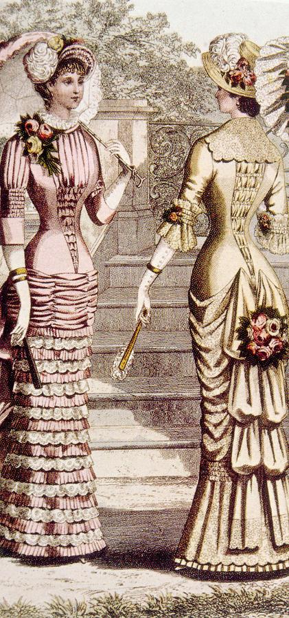 Bustle Photograph - Womens Fashion, Circa 1880s by Everett