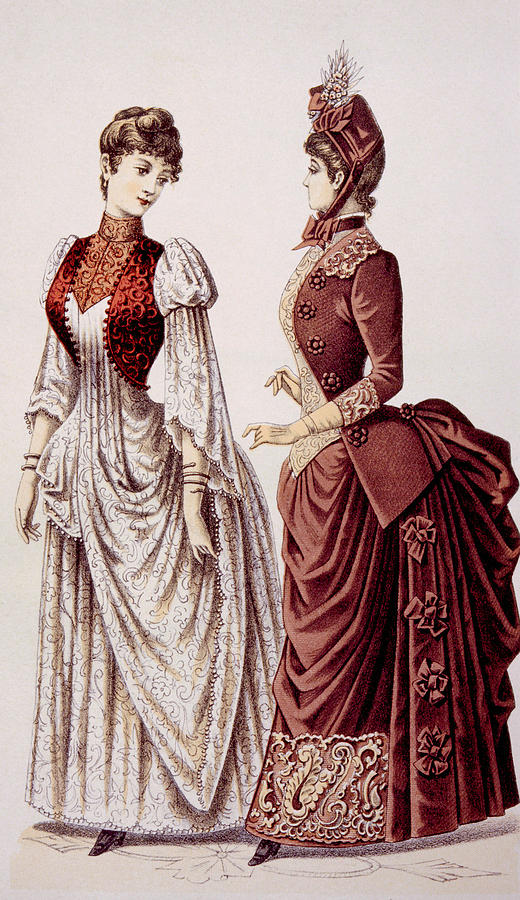 Womens Fashions As Pictured In Godeys Photograph By Everett