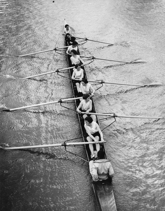 Adults Only Photograph - Womens Rowing by William Wanderson