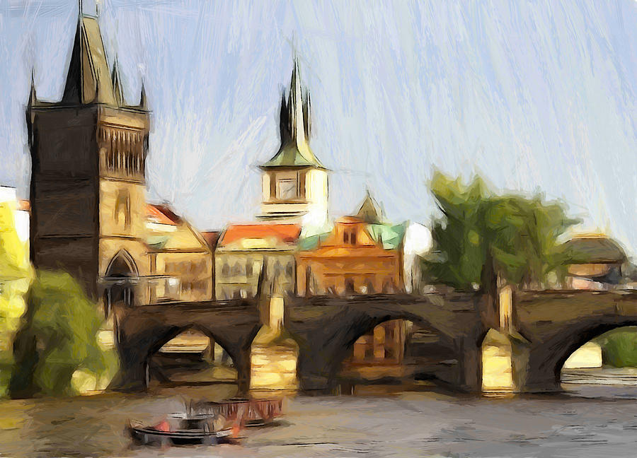 Wonderful Prague Painting by Steve K