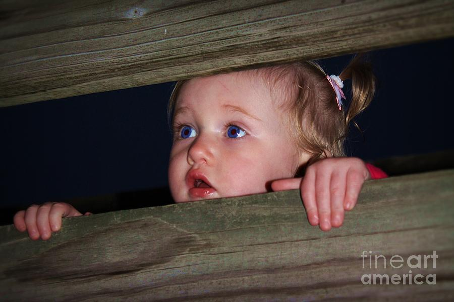 Child Photograph - Wonderment by Laurinda Bowling
