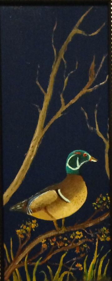 Wildlife Painting - Wood Duck by Al  Johannessen