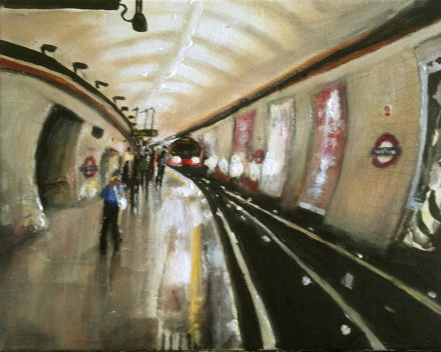 Tube Painting - Wood Green Tube Station by Paul Mitchell