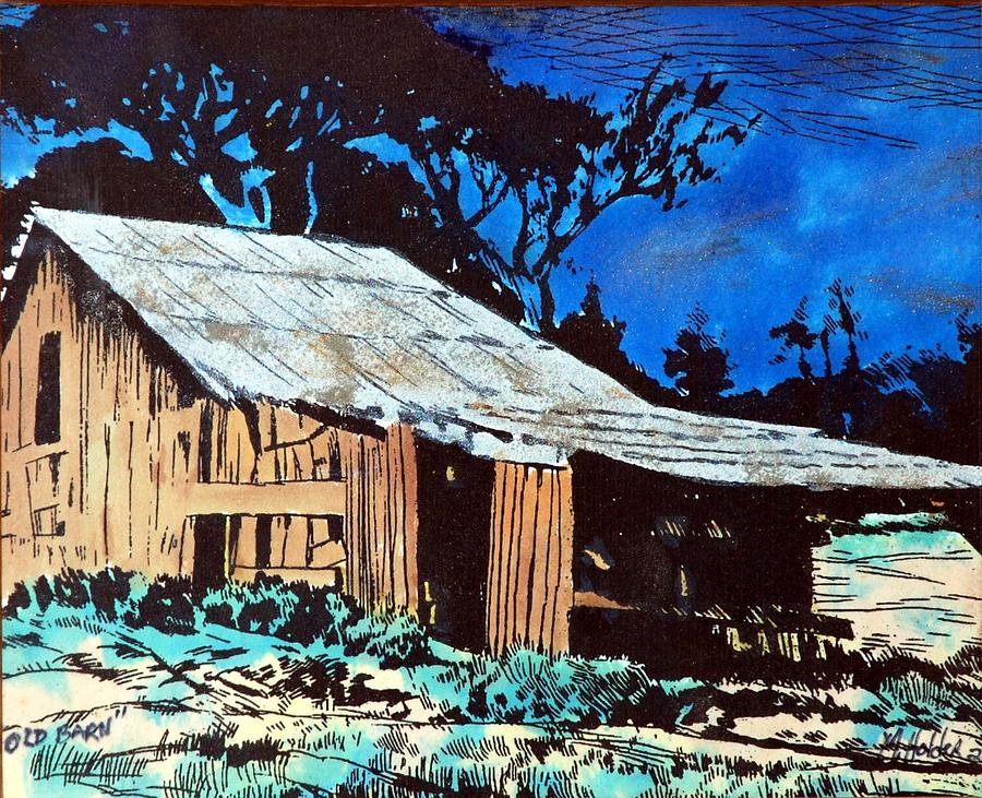 Barn Pyrography - Wood Shed by Mike Holder