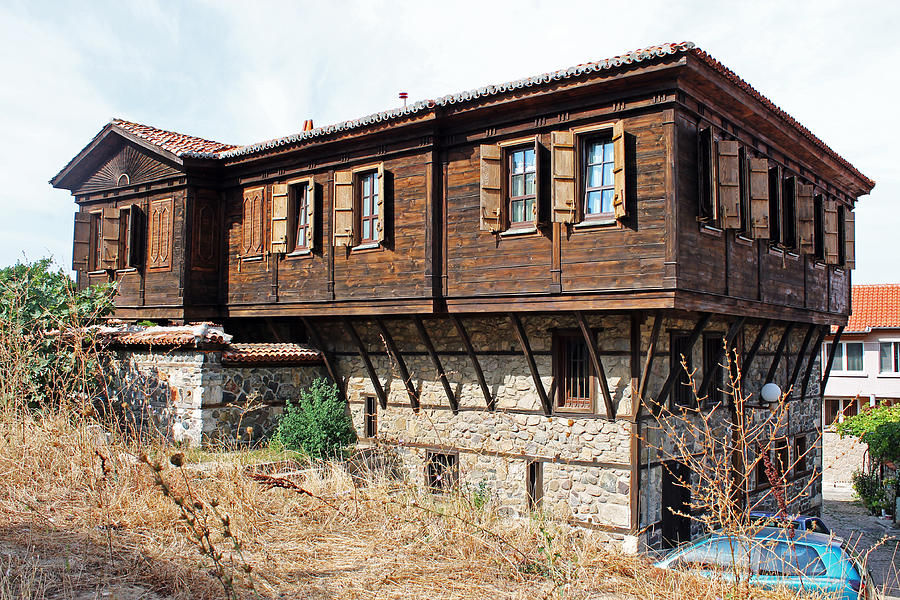 Building Photograph   Wooden And Stone House By Tony Murtagh
