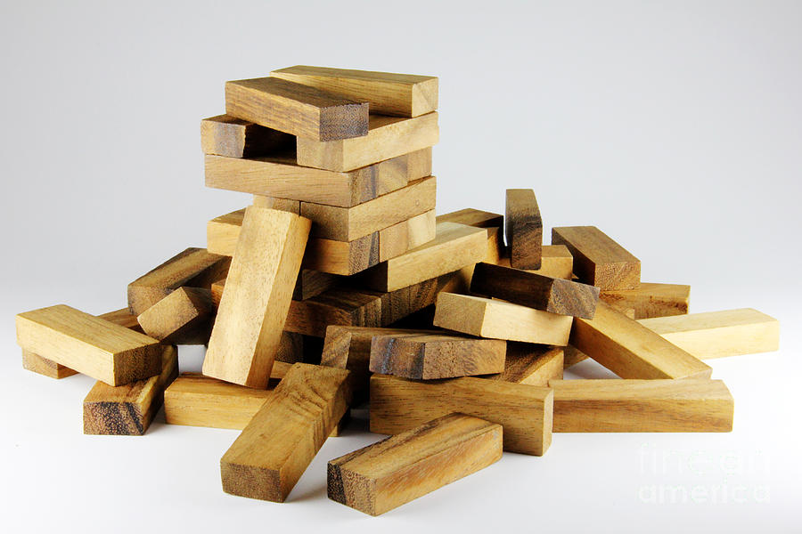 Wooden Block Game Photograph By Rittidach Trakanrungroj Stunning Wooden Bricks Game