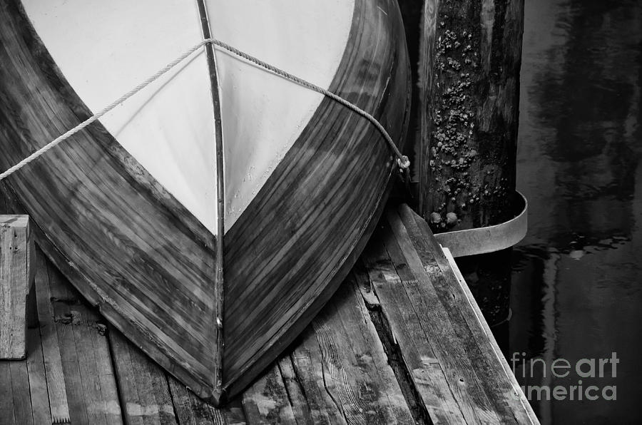 Wooden Boat Photograph - Wooden Boat On The Dock by Wilma  Birdwell