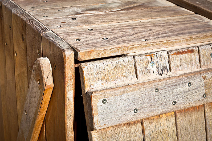 Background Photograph - Wooden Crate by Tom Gowanlock