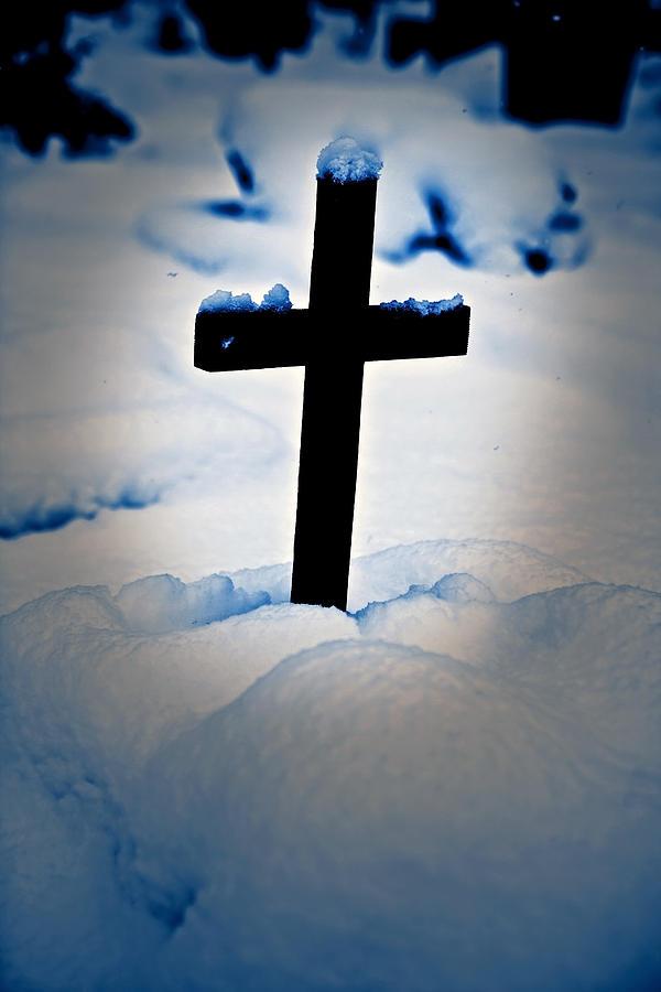 Cross Photograph - Wooden Cross by Joana Kruse