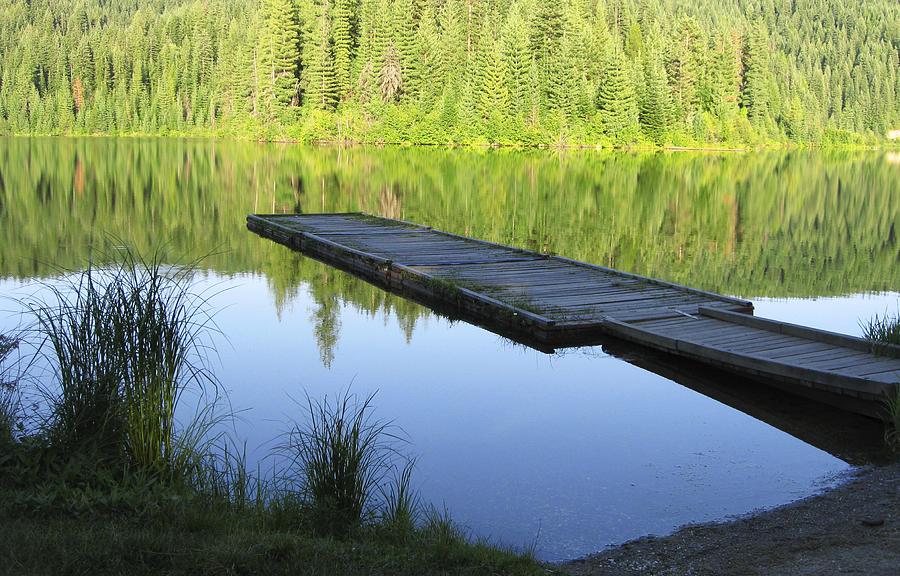 Wooden Dock On Lake Digital Art by Anne Mott