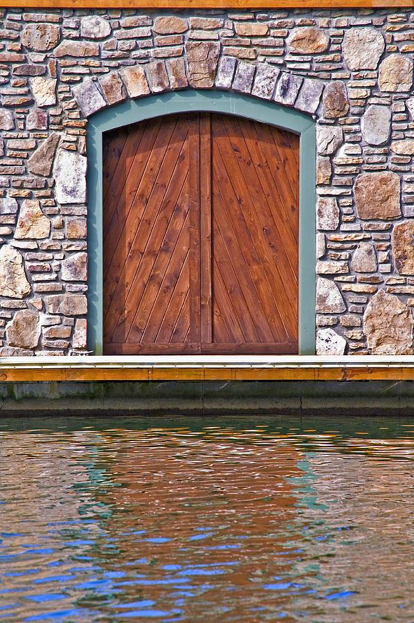 Architecture Photograph - Wooden Door by Susan Leggett
