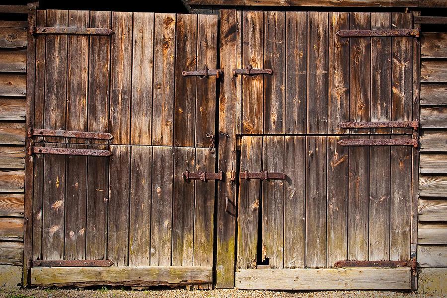 Abandoned Photograph - Wooden Door by Tom Gowanlock