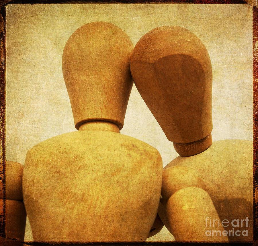 Square Photograph - Wooden Figurines by Bernard Jaubert