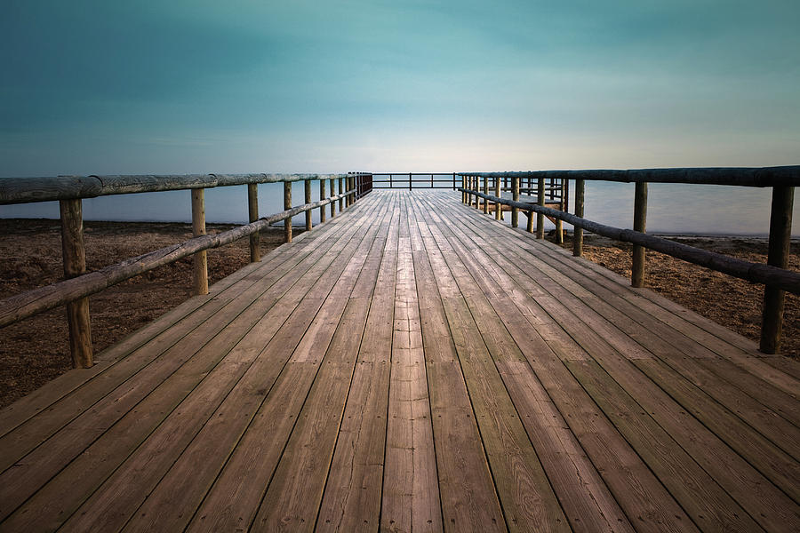 Horizontal Photograph - Wooden Pier by Christian Callejas