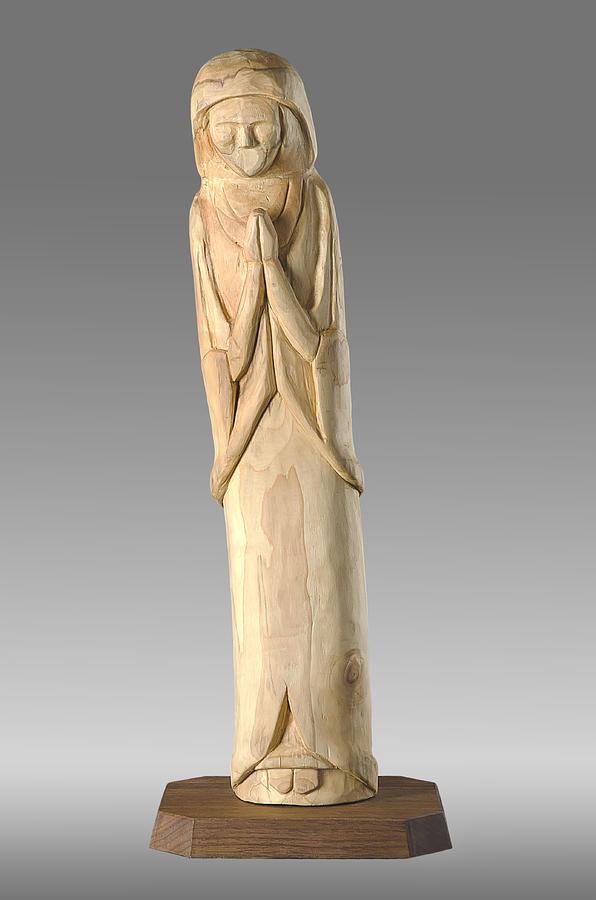 Brown Photograph - Wooden Statue Carving by Noah Katz