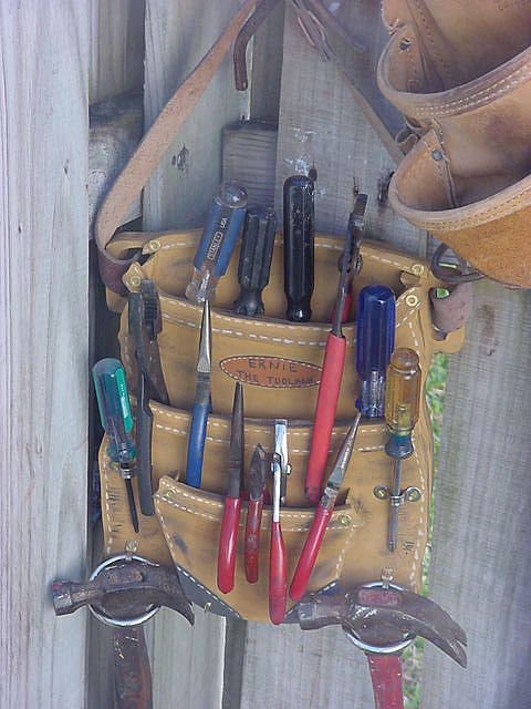 Tool Belt In Wood Mixed Media - Wooden Tool Belt by Val Oconnor