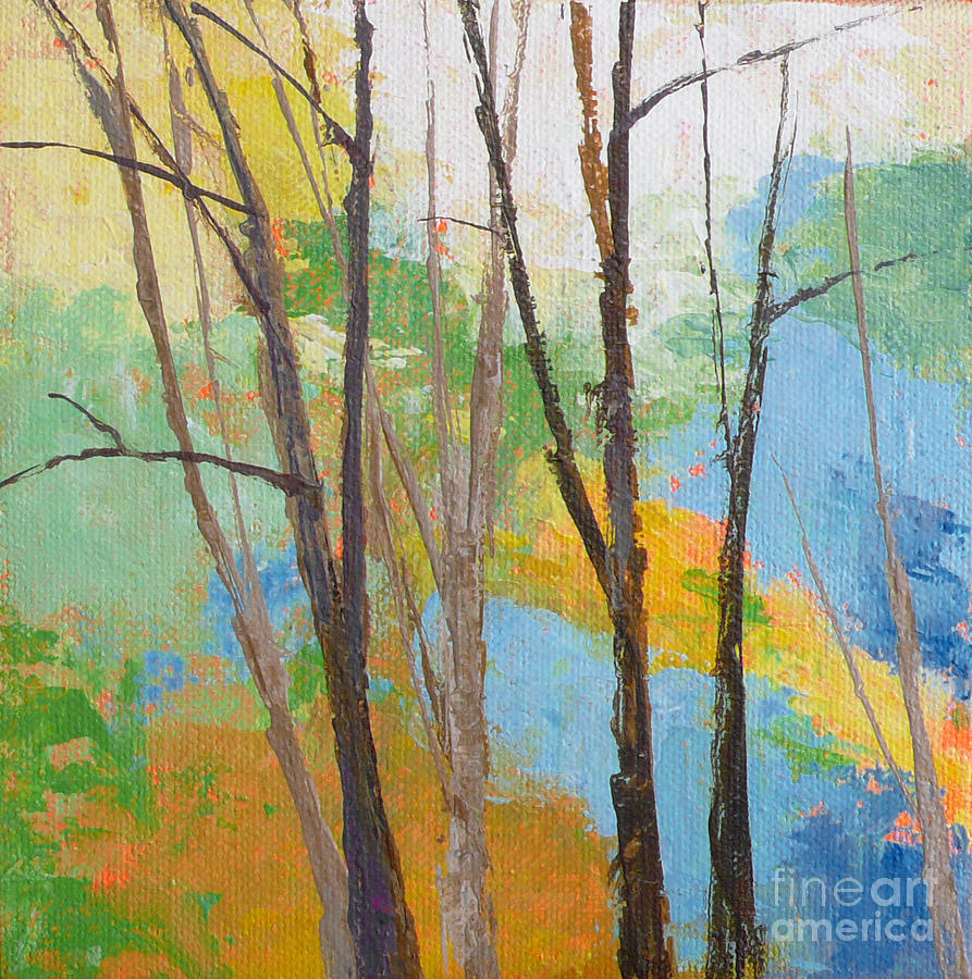 Small Landscape Painting - Woodland #2 by Melody Cleary