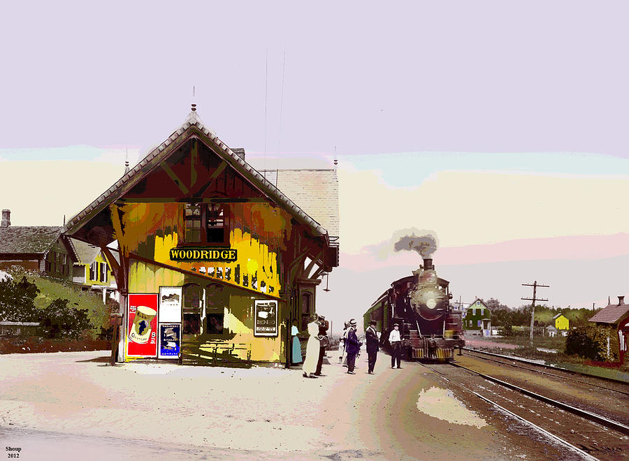 New Jersey Mixed Media - Woodridge Depot by Charles Shoup