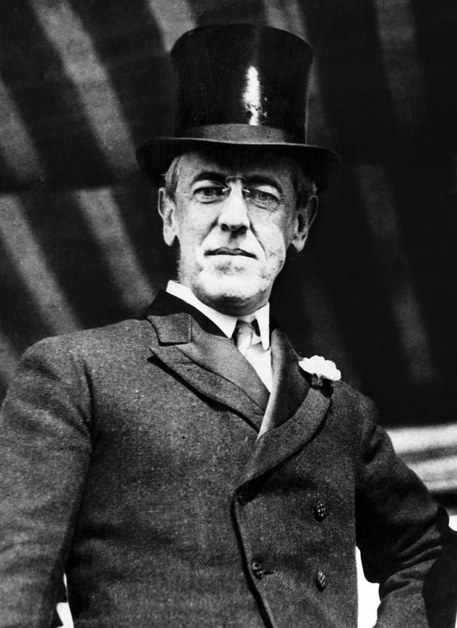 Woodrow Wilson 1856-1925, President Photograph by Everett