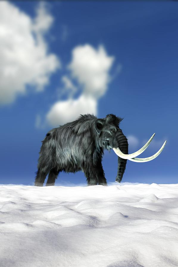 Day Photograph - Woolly Mammoth, Artwork by Victor Habbick Visions