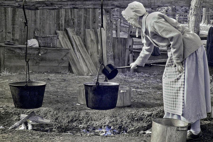 Colonial Photograph - Working Girl by Joann Vitali