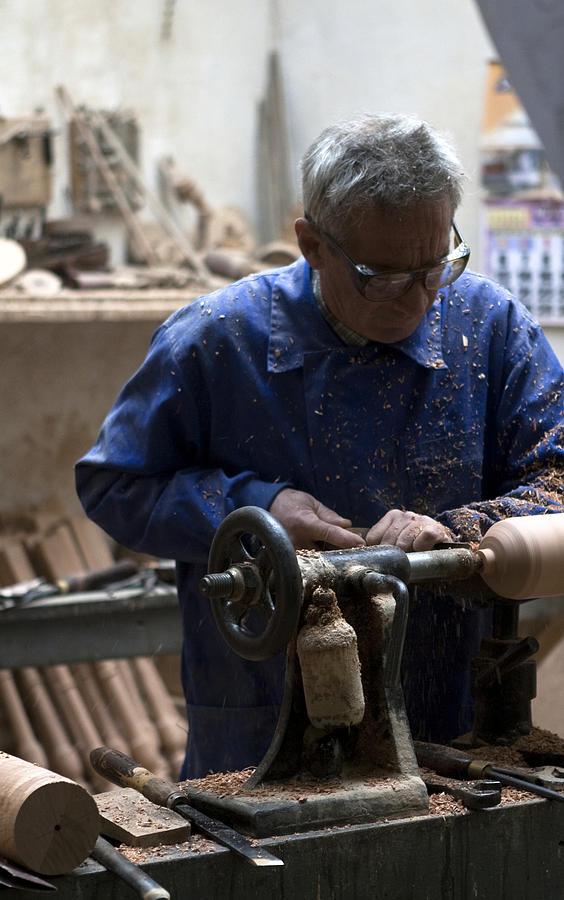 Toledo Photograph - Working His Trade by Lorraine Devon Wilke