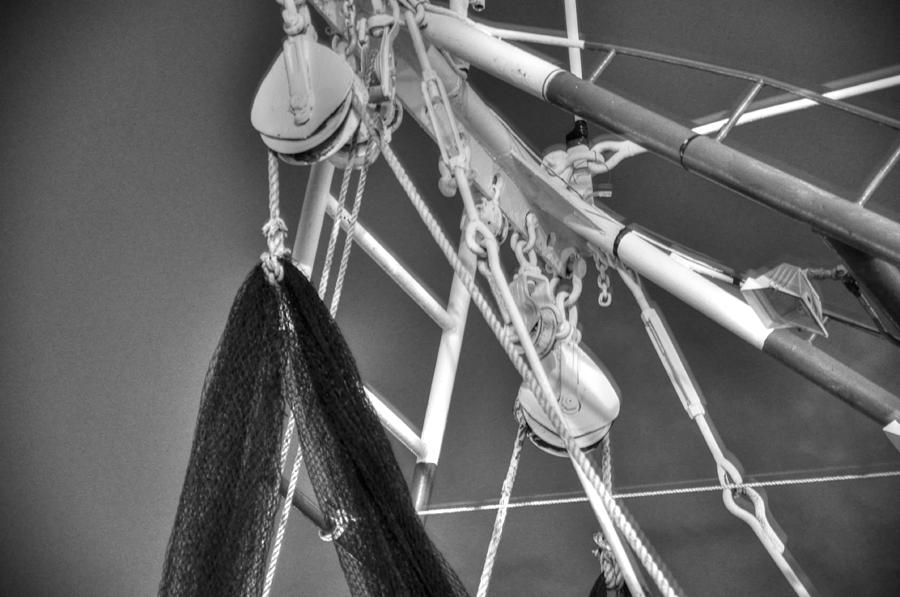 Boat Digital Art - Working Rigg by Barry R Jones Jr
