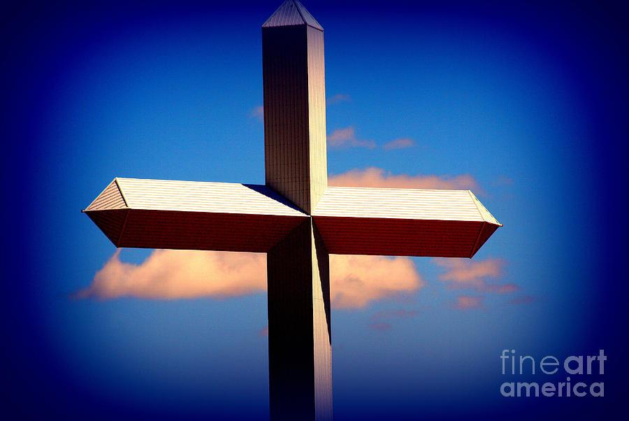 Cross Photograph - World Largest Cross In Illinois  by Susanne Van Hulst