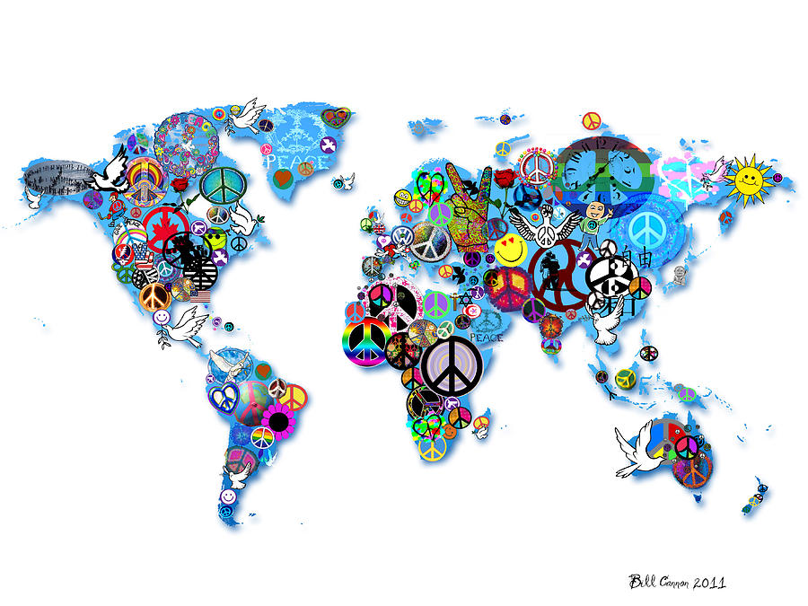 World Digital Art - World Peace by Bill Cannon