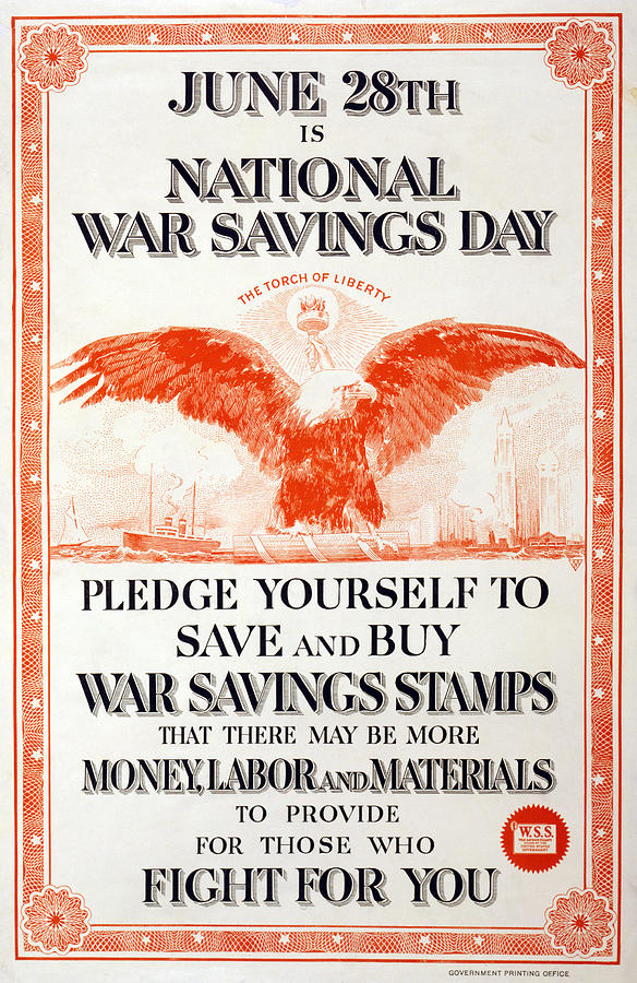 1910s Photograph - World War I, Poster In The Style by Everett