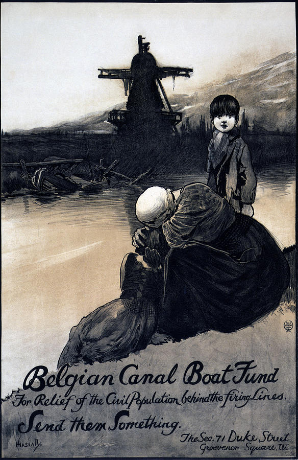 1910s Photograph - World War I, Poster Showing A Mother by Everett