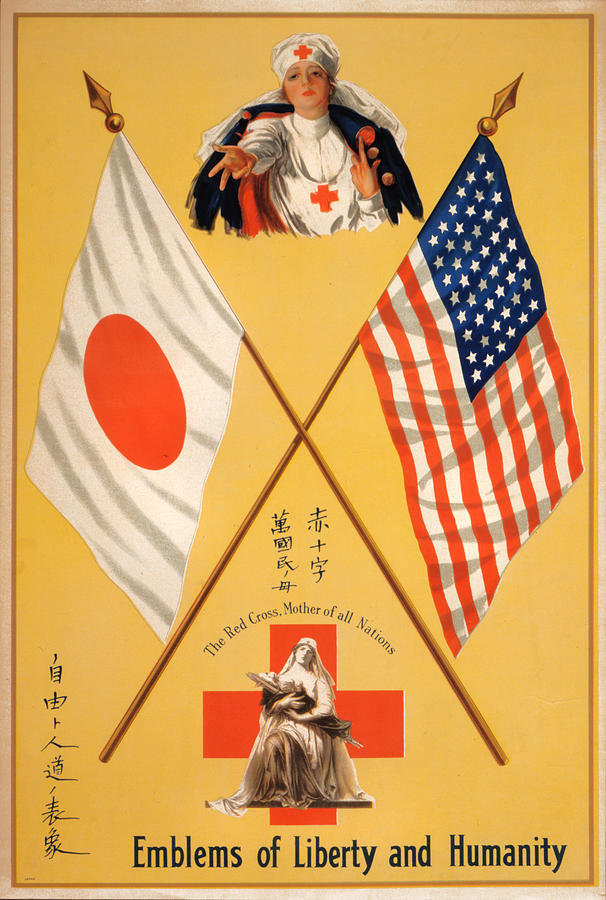 1910s Photograph - World War I, Poster Showing Two Red by Everett