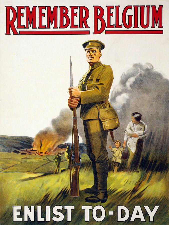 1910s Photograph - World War I, Recruitment Poster Poster by Everett