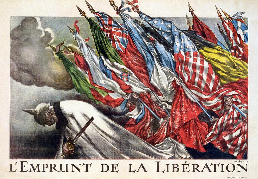 1910s Photograph - World War I, The Liberation Loan by Everett