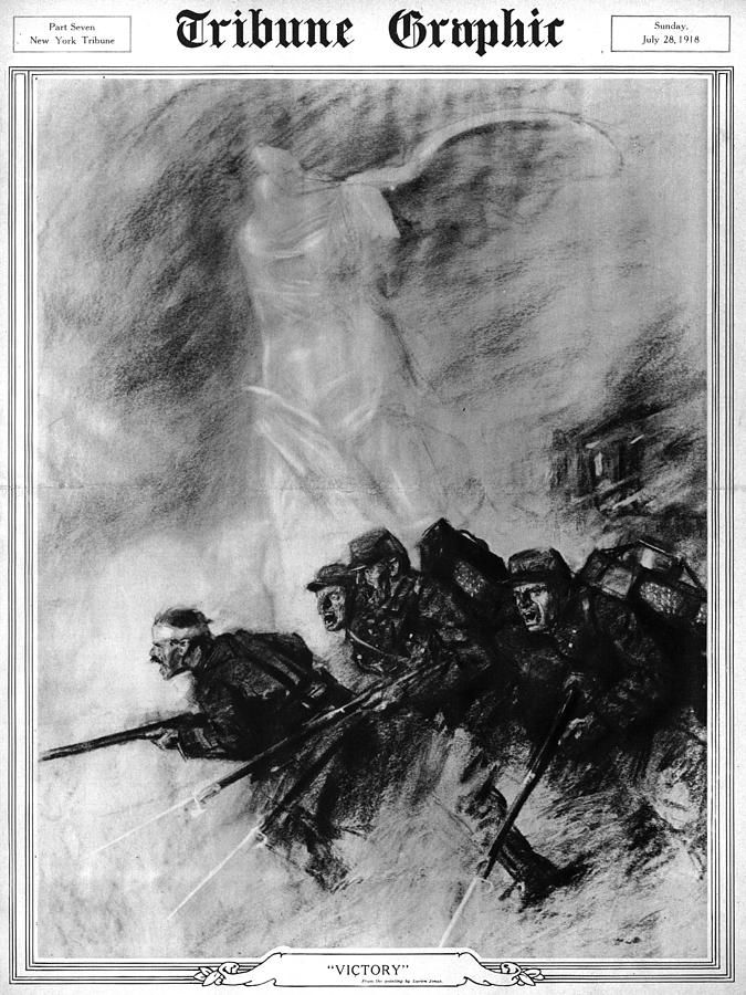 1910s Photograph - World War I, The Tribune Graphic by Everett