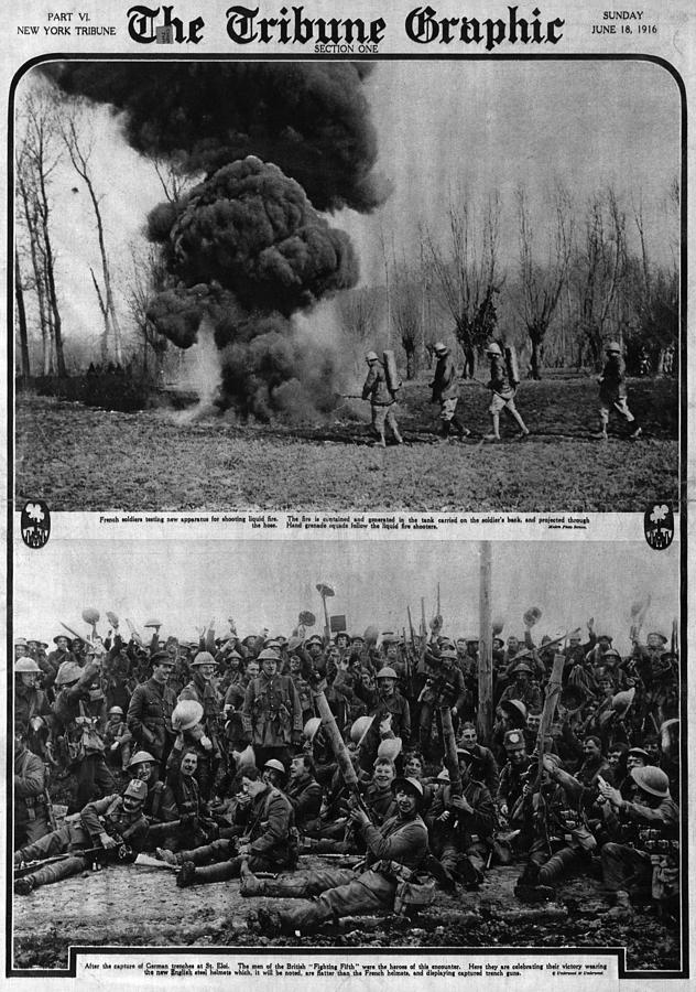 1910s Photograph - World War I, The Tribune Graphic, Top by Everett