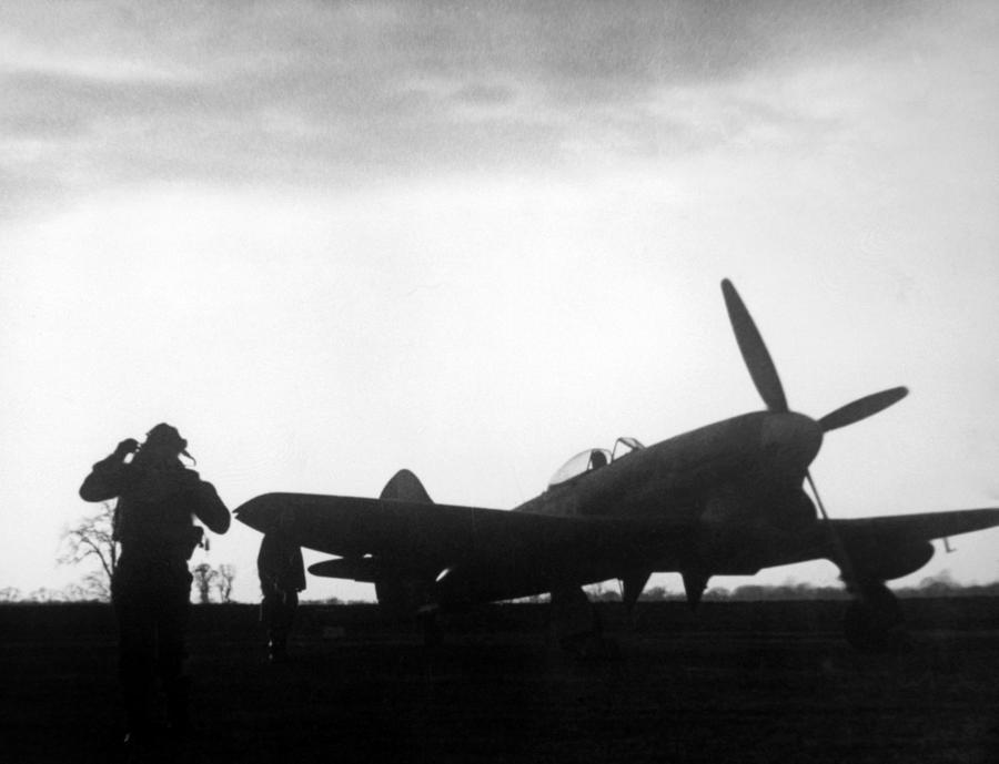 1940s Photograph - World War II, A British Fighter Pilot by Everett
