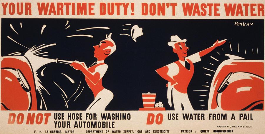 1940s Photograph - World War II, Poster For A New York by Everett