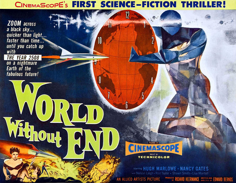 1956 Movies Photograph - World Without End, Bottom Left Nancy by Everett
