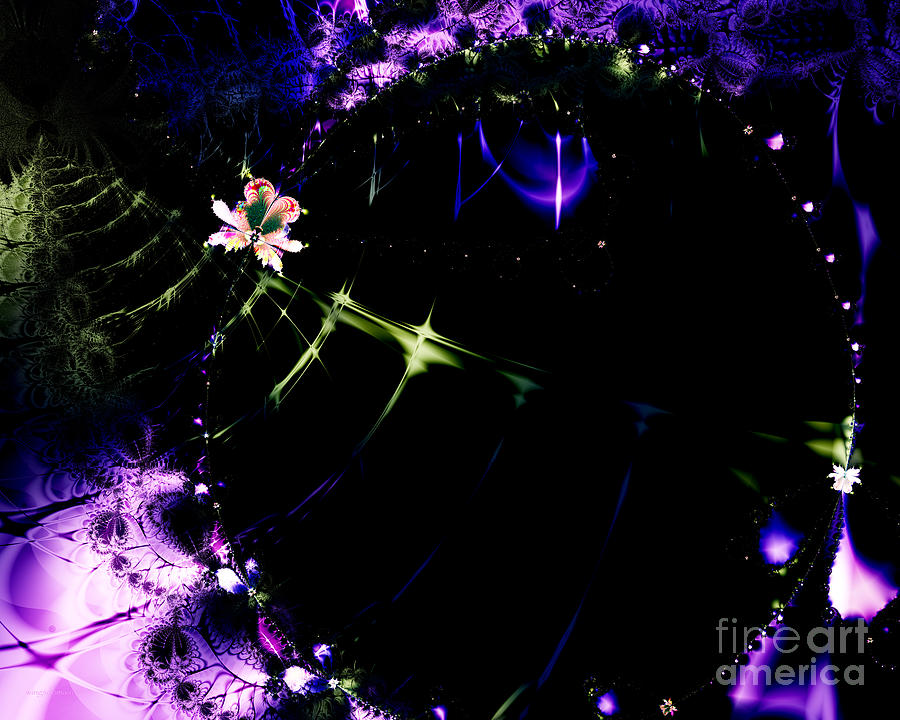 Fractal Digital Art - Wormhole Beyond . S4a.s10 by Wingsdomain Art and Photography