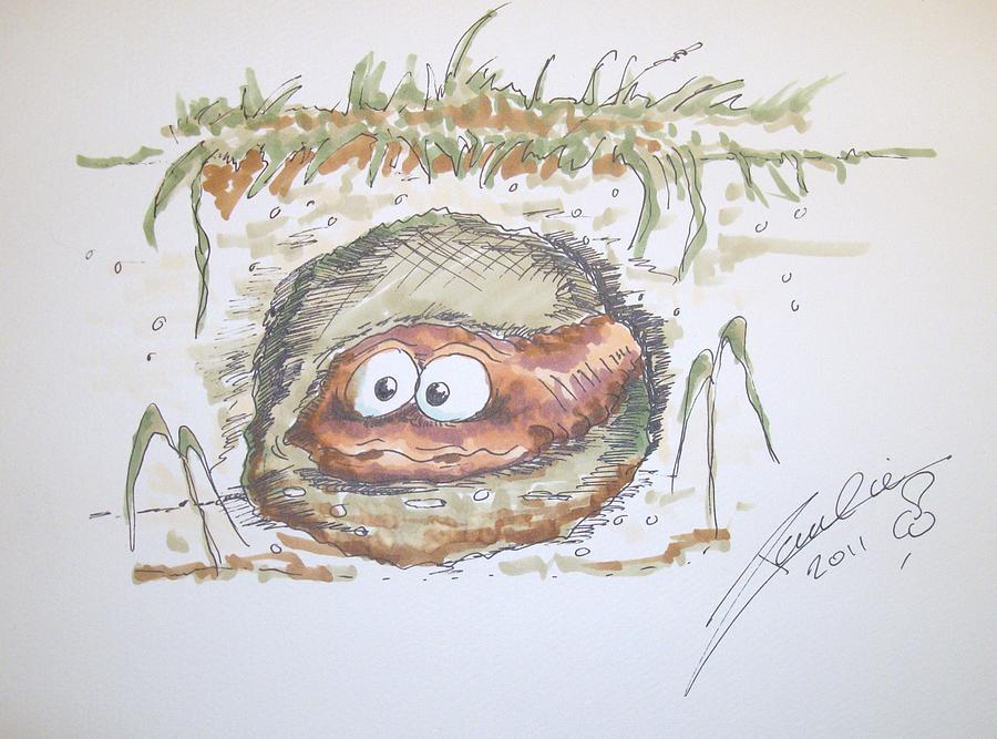 Cartoon Drawing - Wormhole by Paul Chestnutt