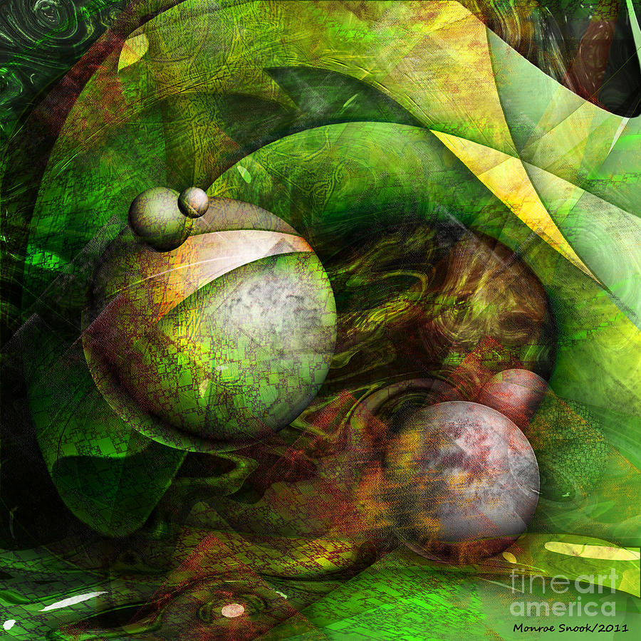 Abstraction Digital Art - Wormwood by Monroe Snook