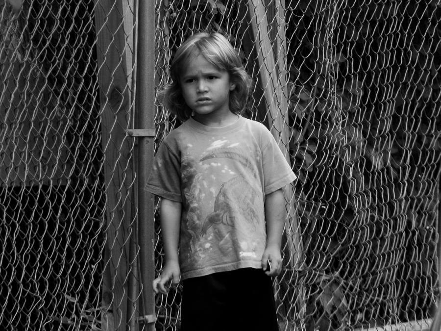 Kid Photograph - Worried Innocence by Jonathan Baca