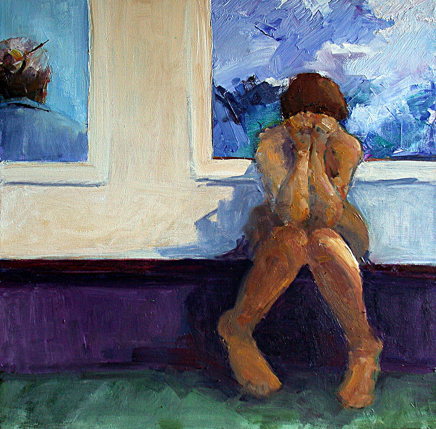Figurative Painting - Worry by Nancy Delpero